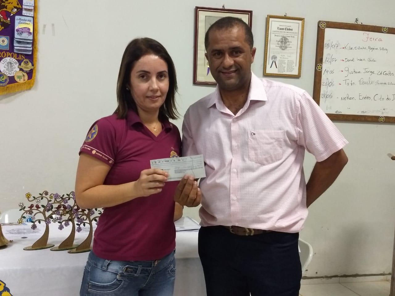 Doação Lions Clube Junqueirópolis